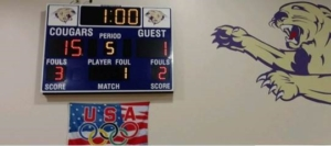 Vball win over Howard scoreboard